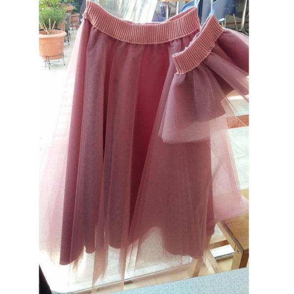 Τούλινη φούστα Ροζ για Μαμά και Κόρη