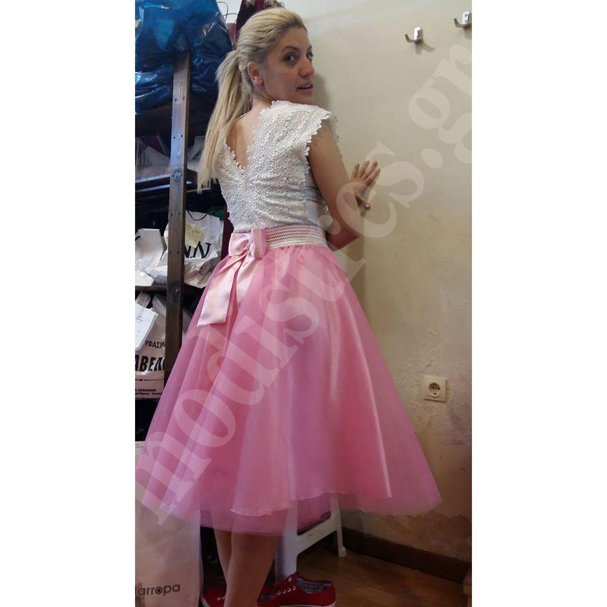 172e264e109 Τούλινη φούστα Νονά και Βαφτιστήρα – MODISTRES.COM