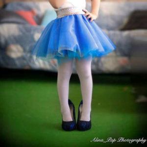 Παιδική Τούλινη φούστα Μπλε Σιελ